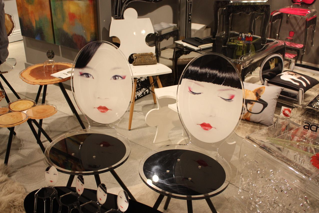 moda dora group acrylic chair faces