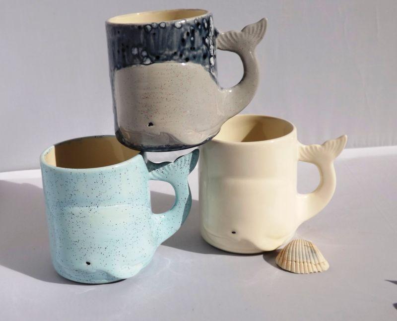 whale mug handmade