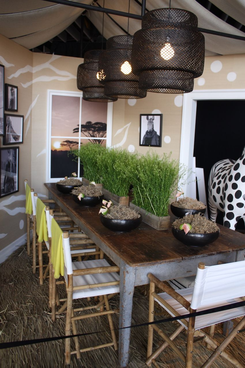 African Rustic Party Table Decor