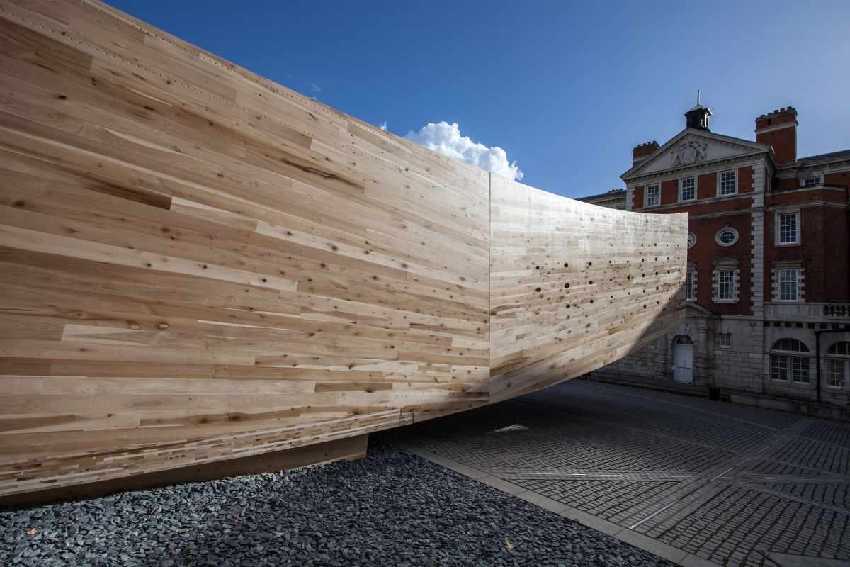Alison brooks architects Curved Tent for London design festival