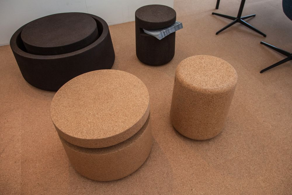 Arte Abe and Arne Cork Stool Table
