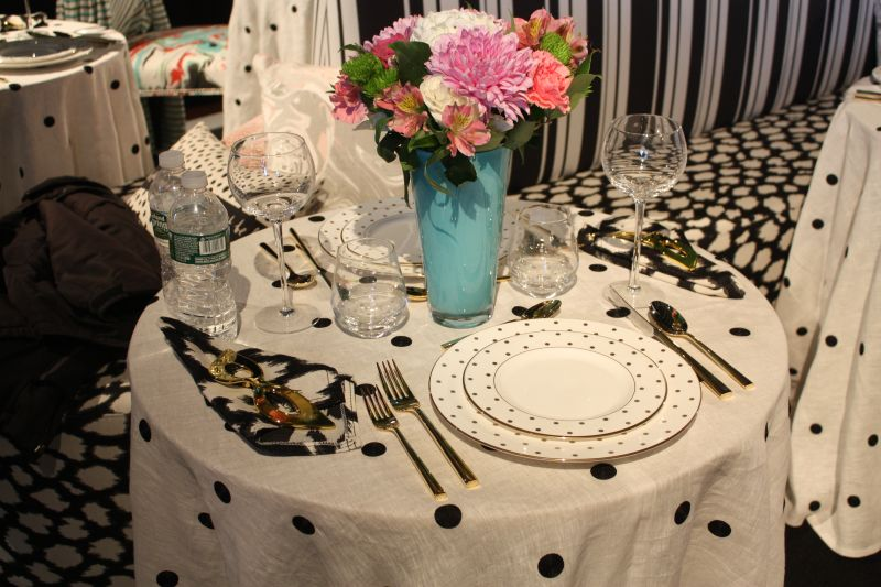 Black and white with gold accents party table decor