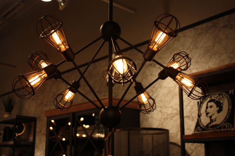 Caged Lighting fixture