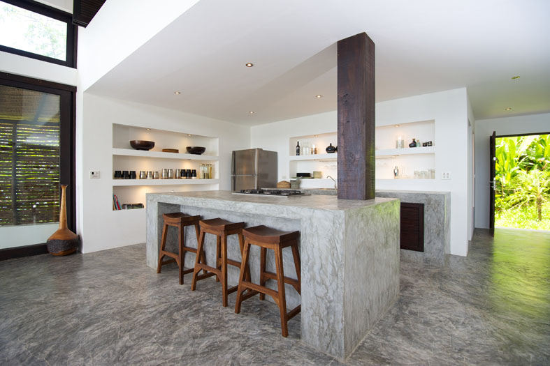 48 Stylish Kitchen Designs With Concrete Counter Highlights Interesting The Kitchen Design