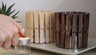 Make a Quick and Cute Clothespin Candle Holder