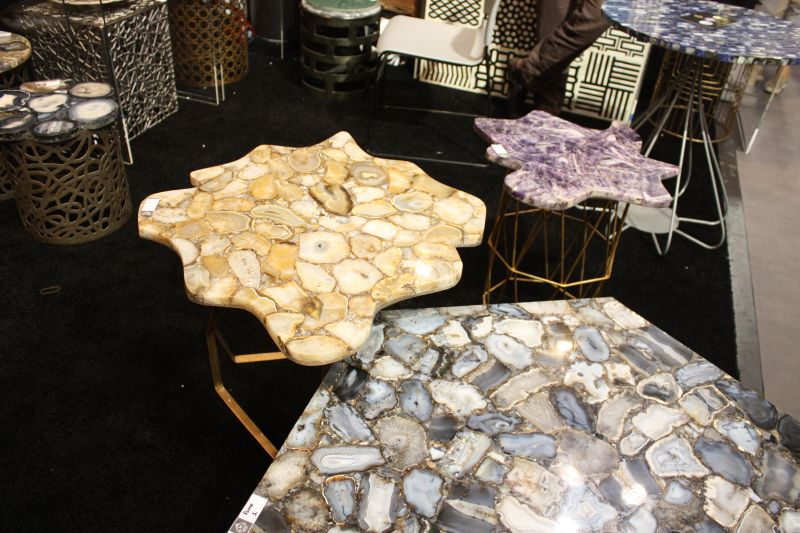 Coffee tables with gemstone top