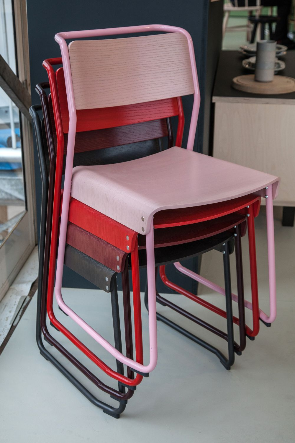Colorful Canteen Utility Chair