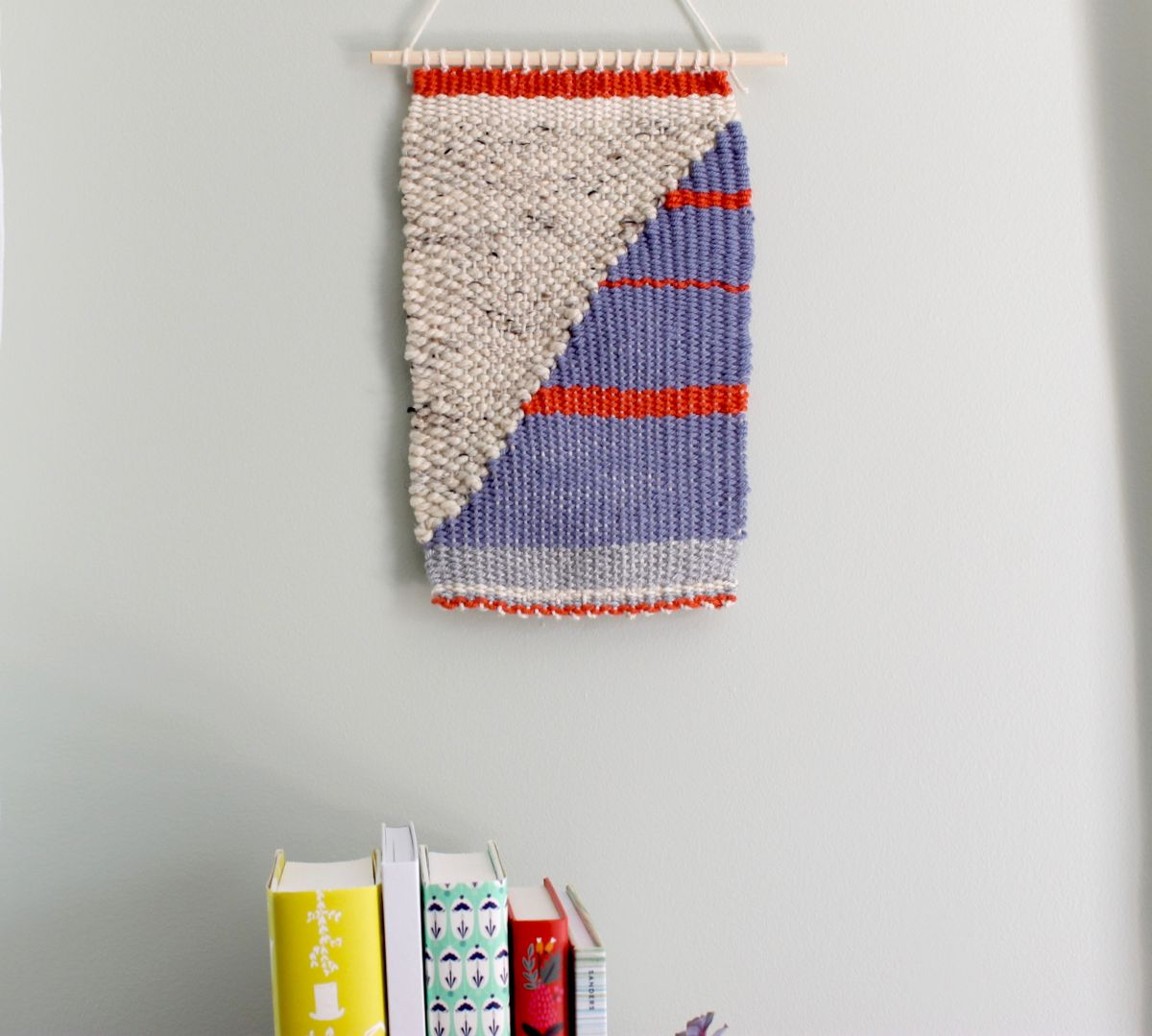 Colorful DIY Loom and Woven Wall Hanging