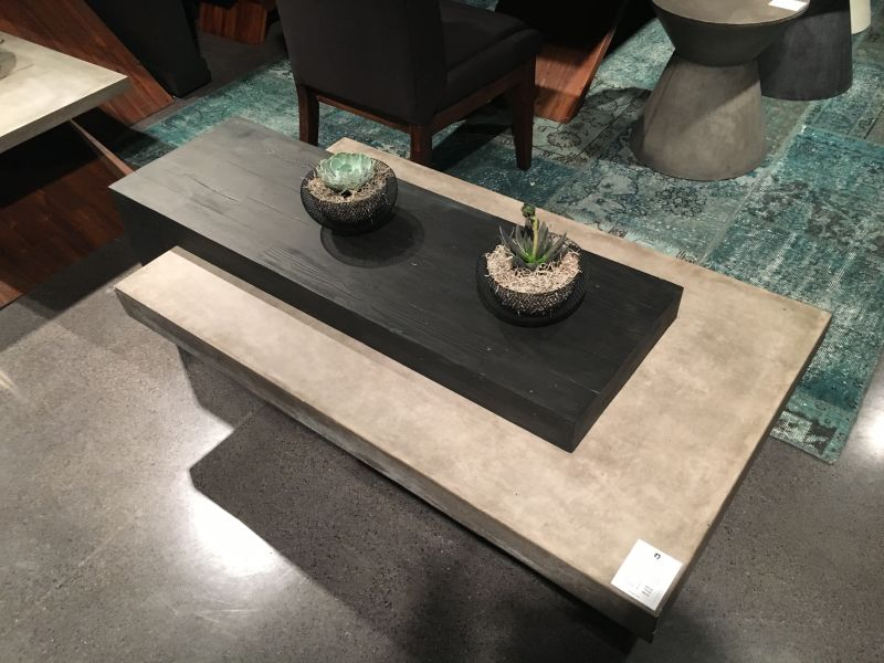 Concrete coffee table decor