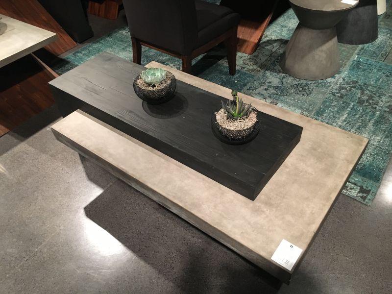 Concrete coffee table decor