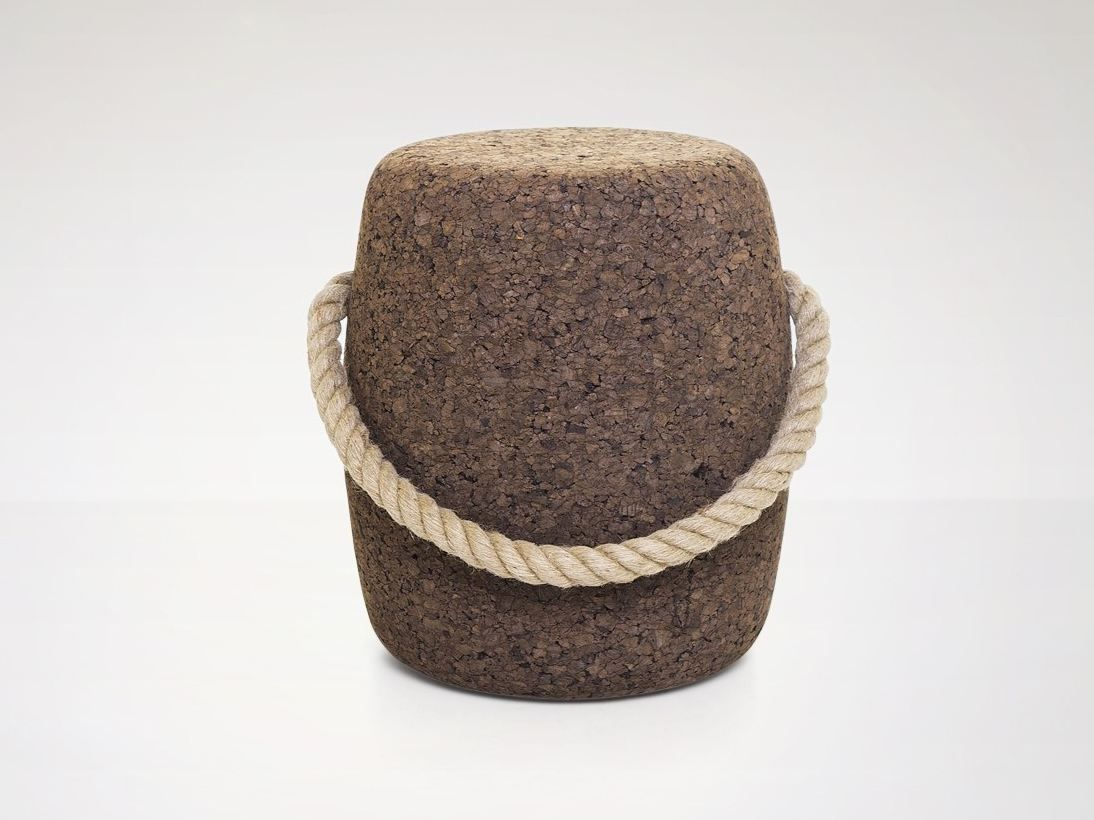 Cork stool with rope