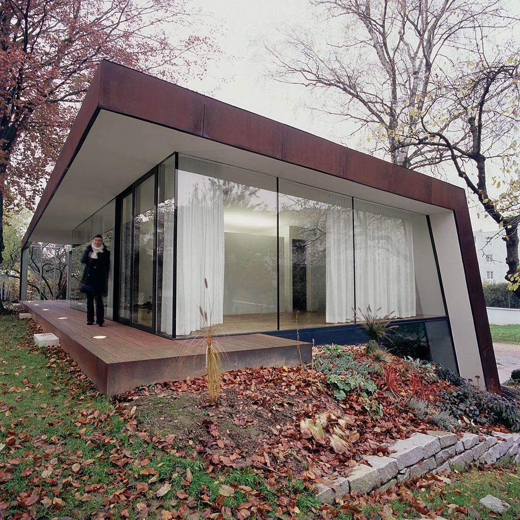 Corten house by x Architekten in Linz