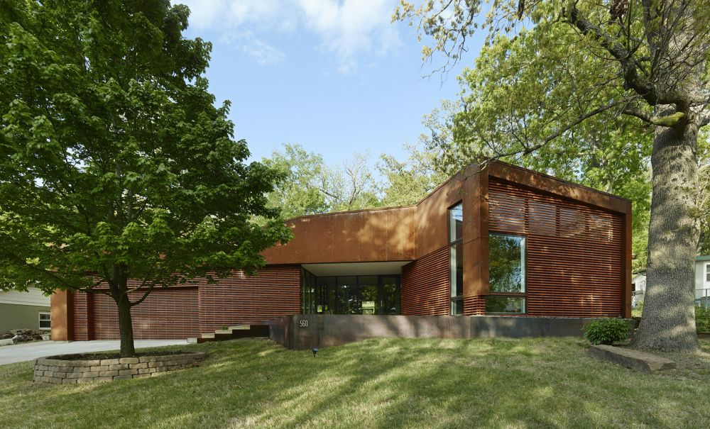 Corten steel Arkansas House