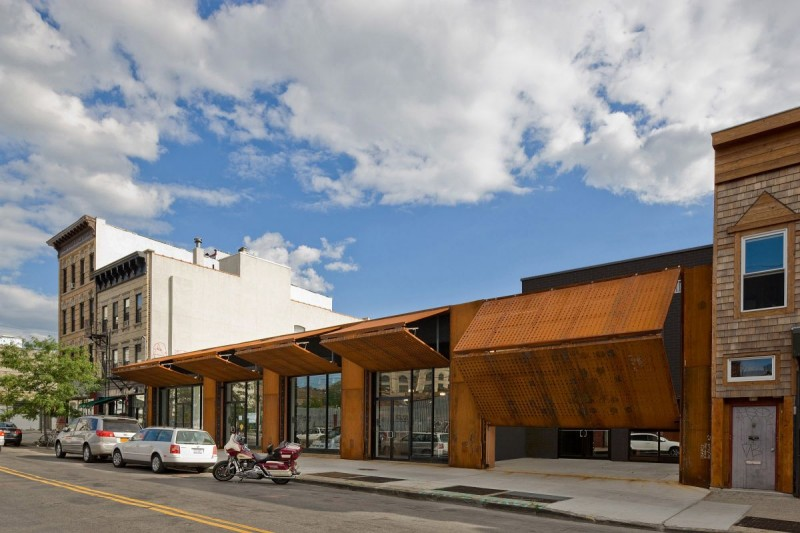 Corten steel Wyckoff Exchange by Andre Kikoski Architect design