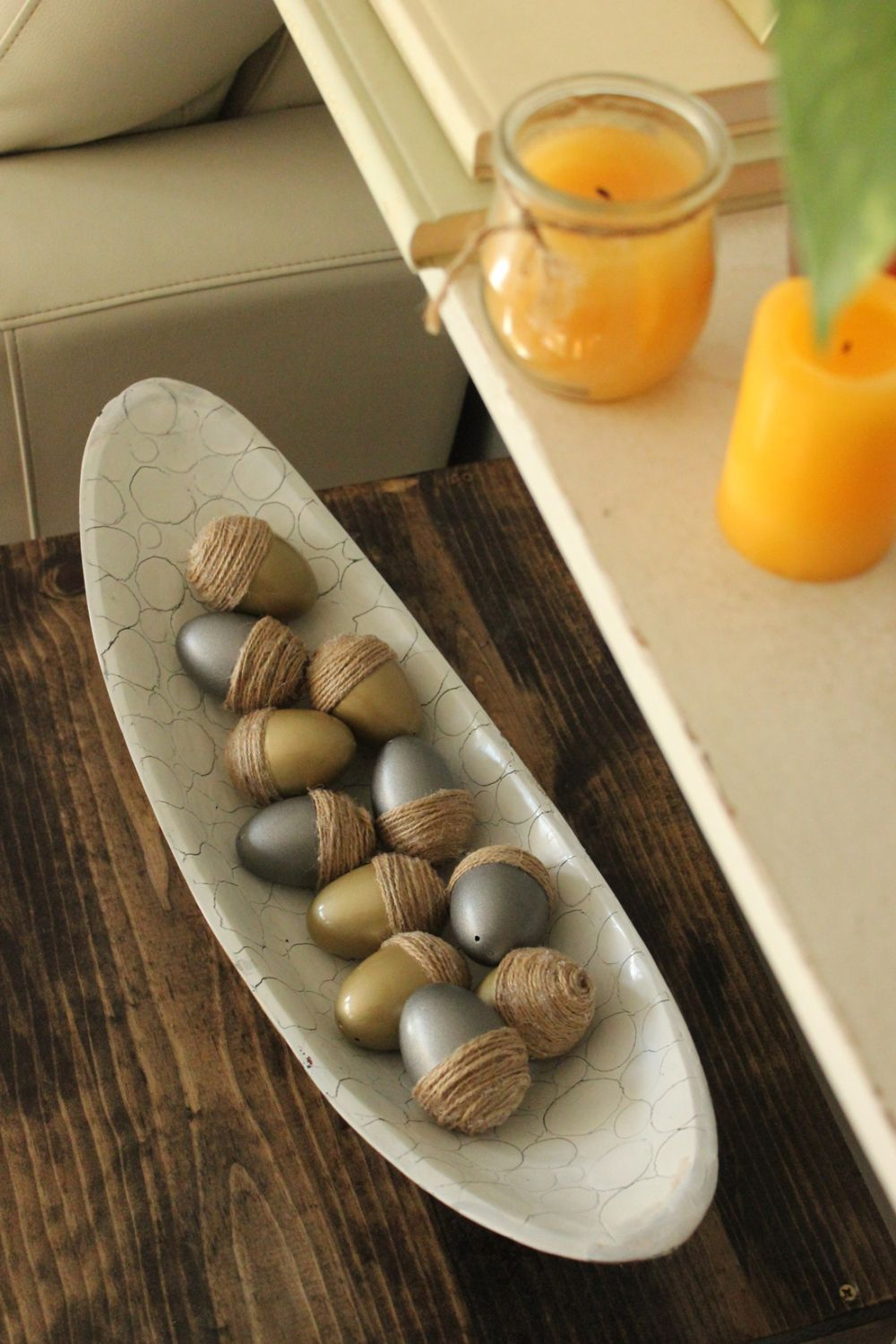 DIY Acorn Eggs Fall Decor