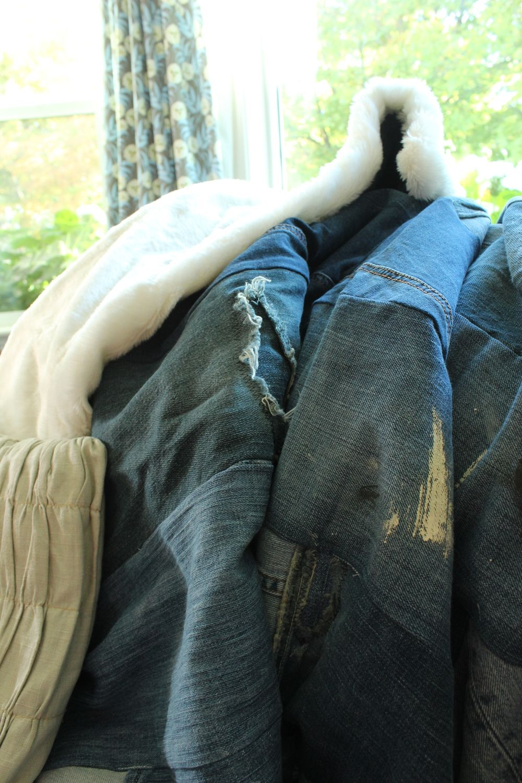 DIY Denim Fur Throw Project