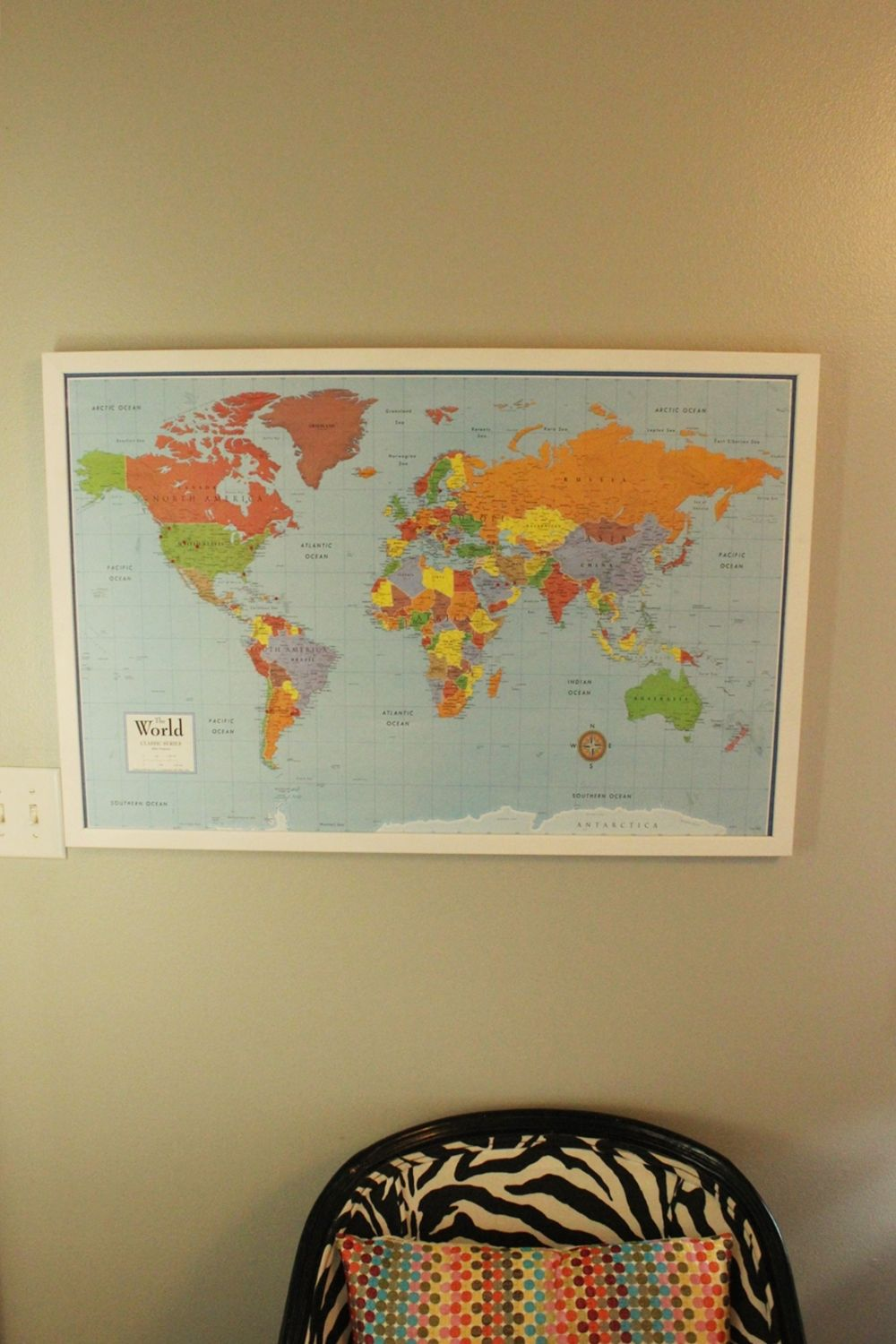 DIY Framed Map Corkboard Fun For Kids