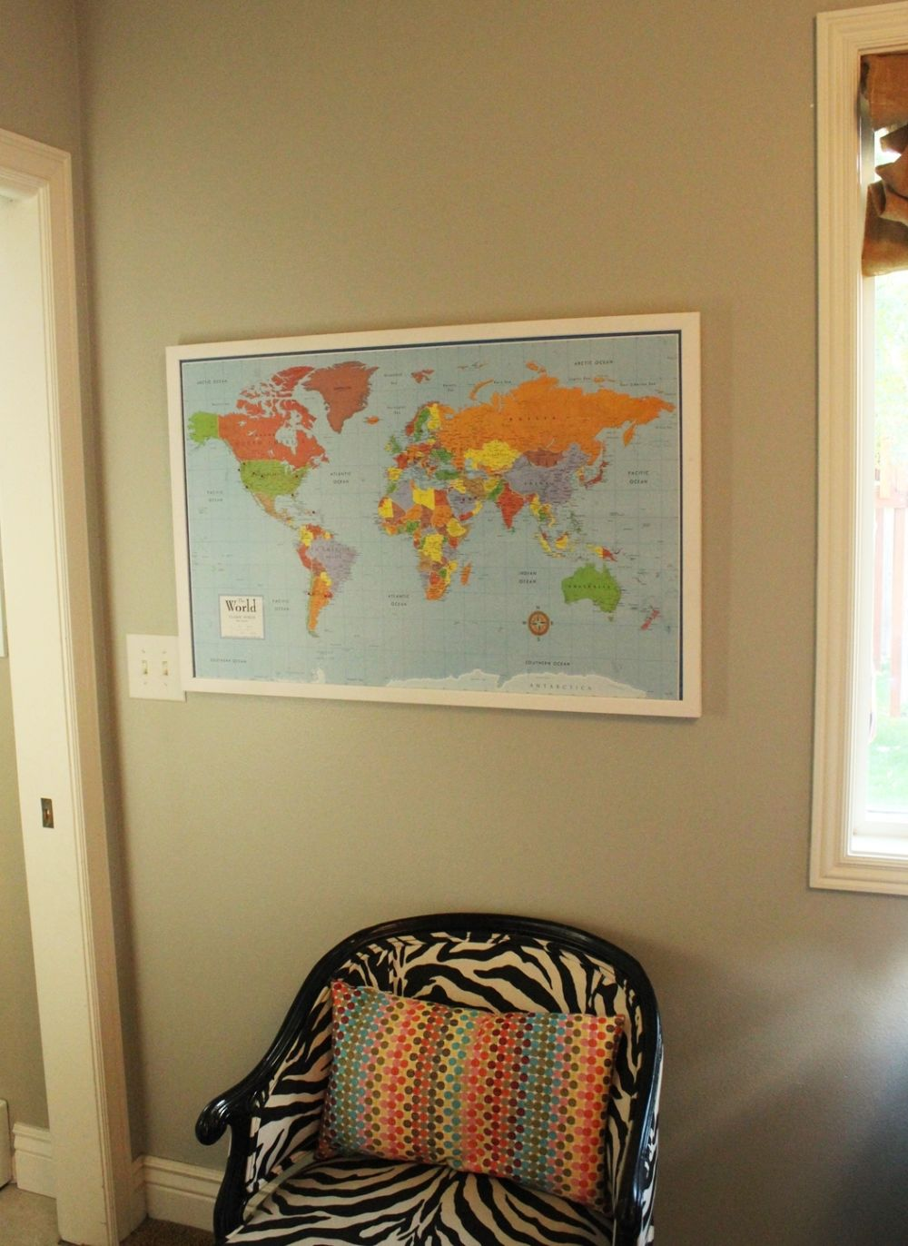 DIY Framed Map Corkboard Project