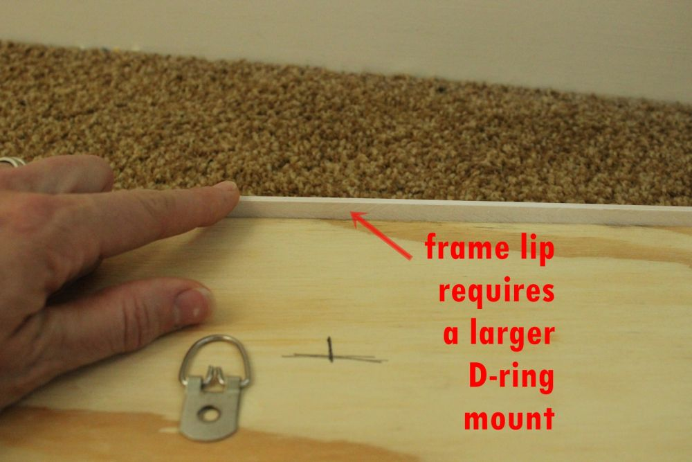 DIY Framed Map Corkboard - framing method