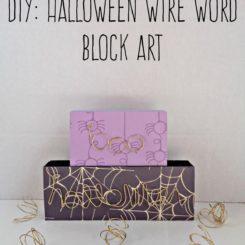 DIY Halloween Wire Word Block Art