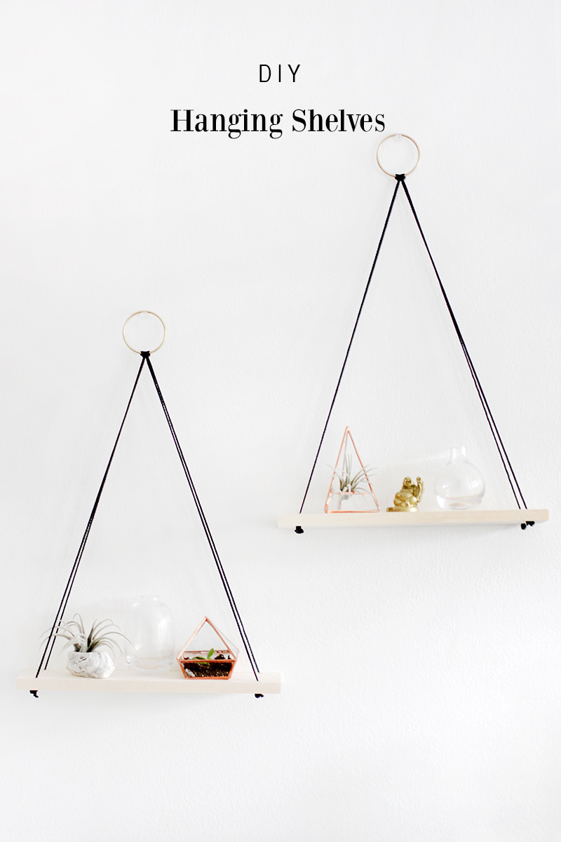 Obsessed with hanging shelves simple diy ideas youll love diy hanging shelves easy solutioingenieria Gallery