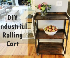 DIY Industrial Rolling Cart
