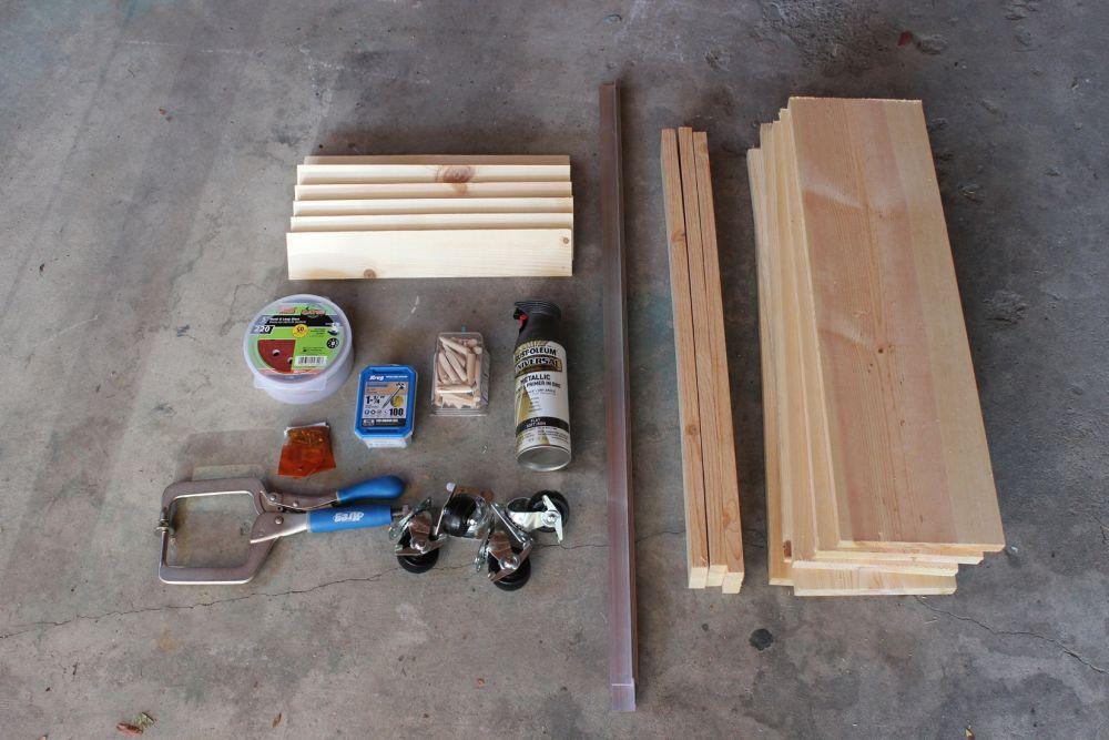 DIY Industrial Rolling Cart - Materials