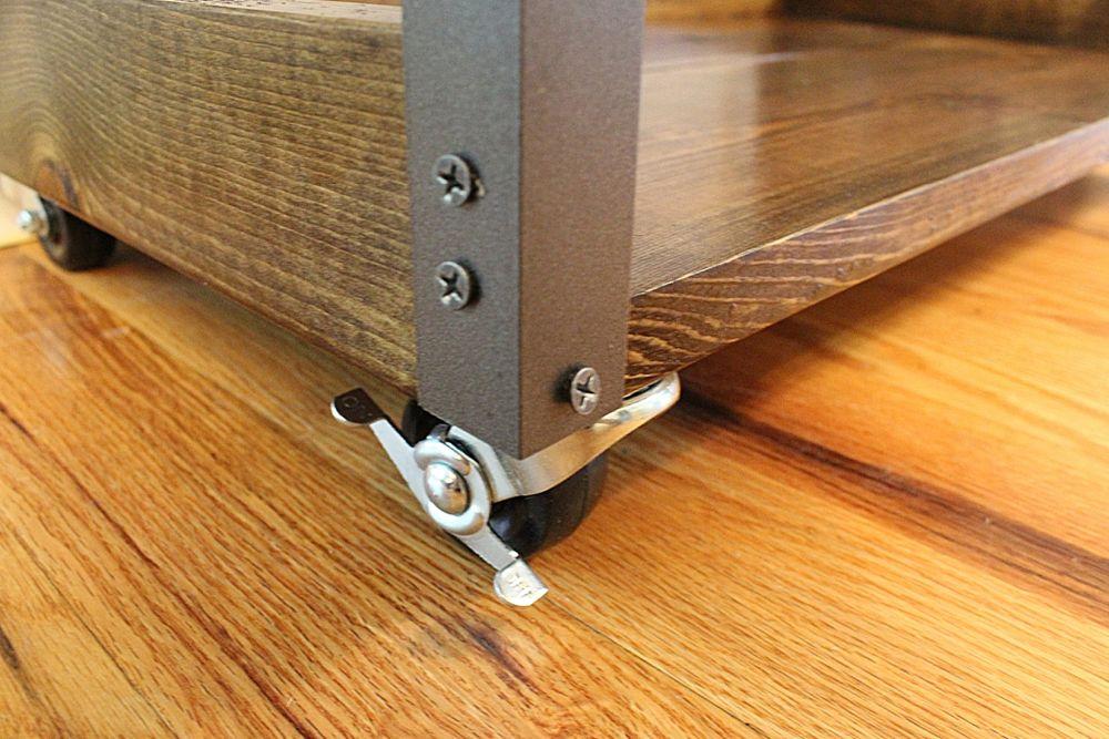 DIY Industrial Rolling Cart - wheels