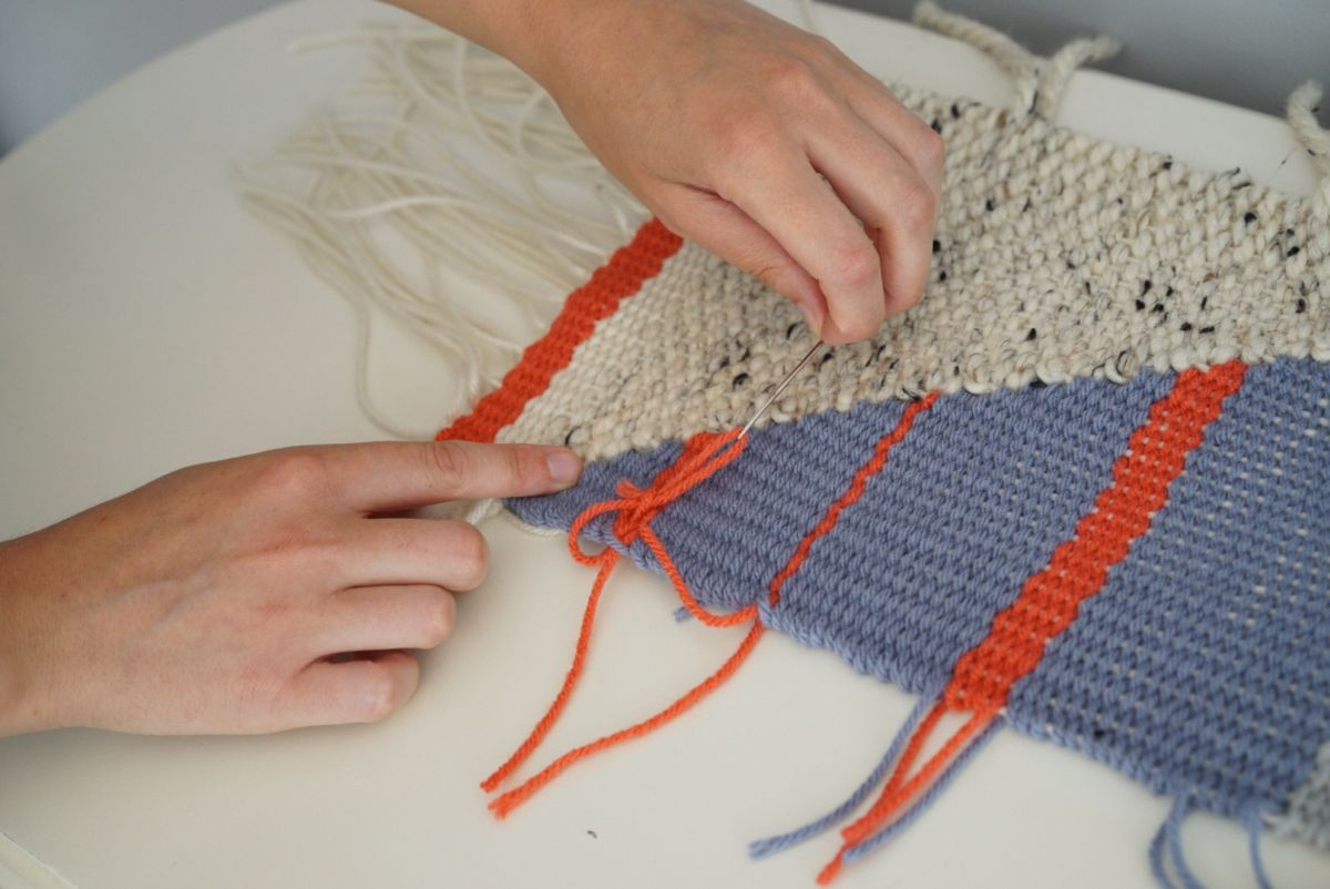 DIY Loom and Woven Wall Hanging - free from the loom