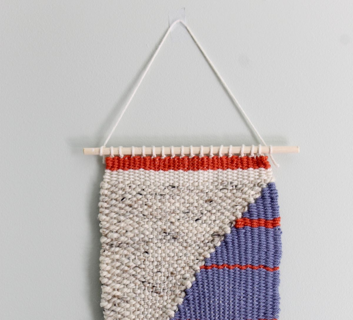 DIY Loom and Woven Wall Hanging - hang