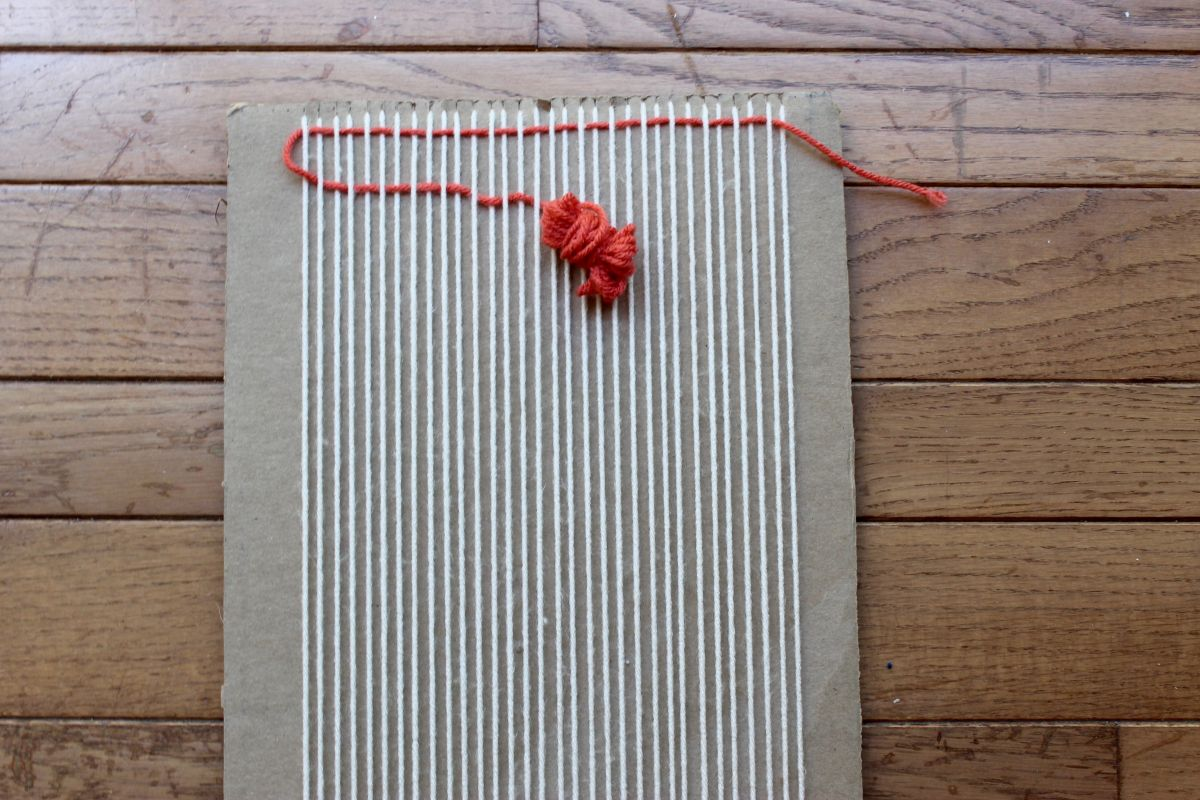 DIY Loom and Woven Wall Hanging - second color