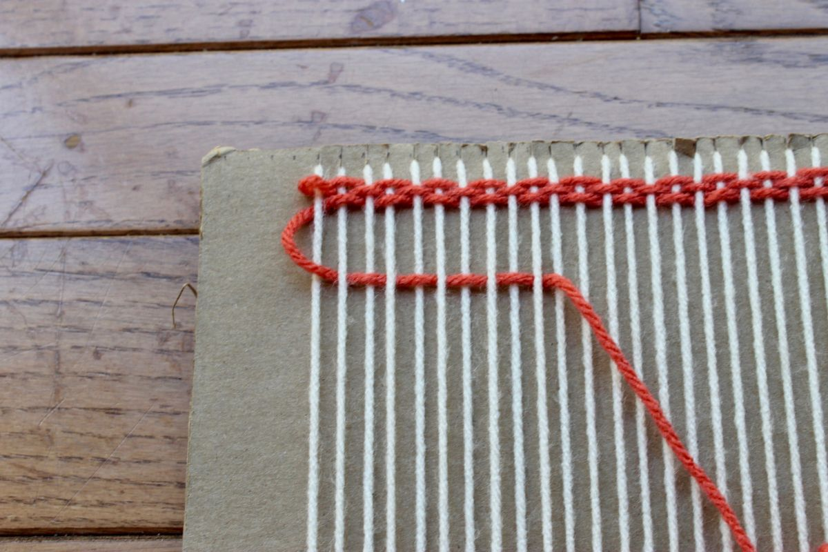 DIY Loom and Woven Wall Hanging - weaving