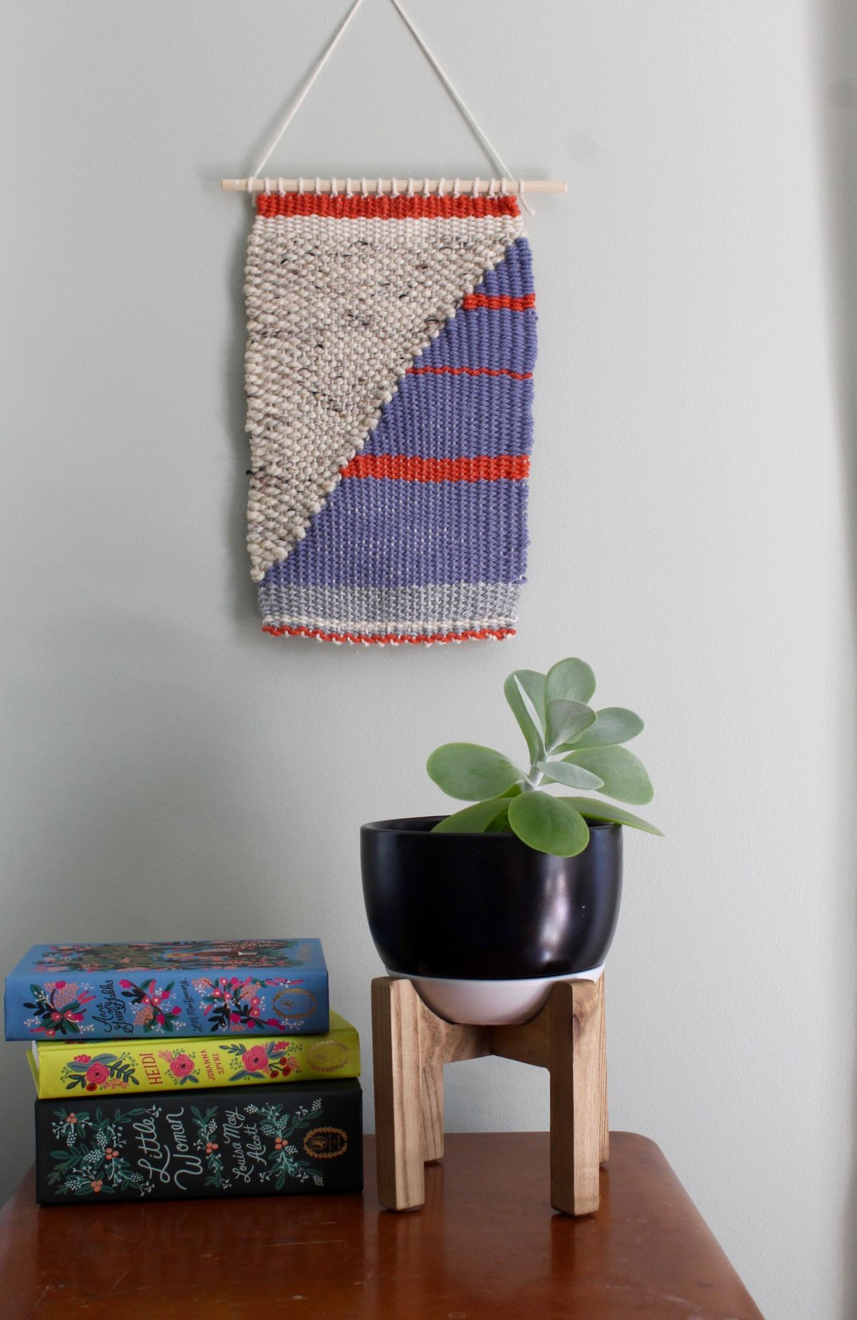DIY Loom and Woven Wall Hanging