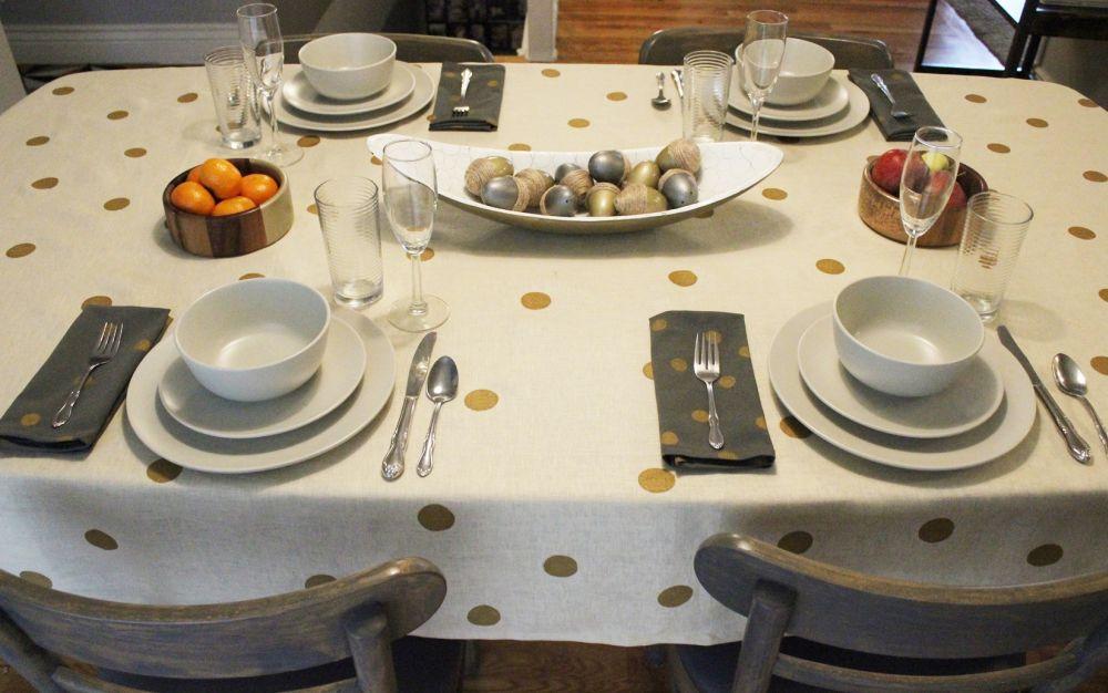 DIY Polka Dot Napkins - Table Decor For Fall
