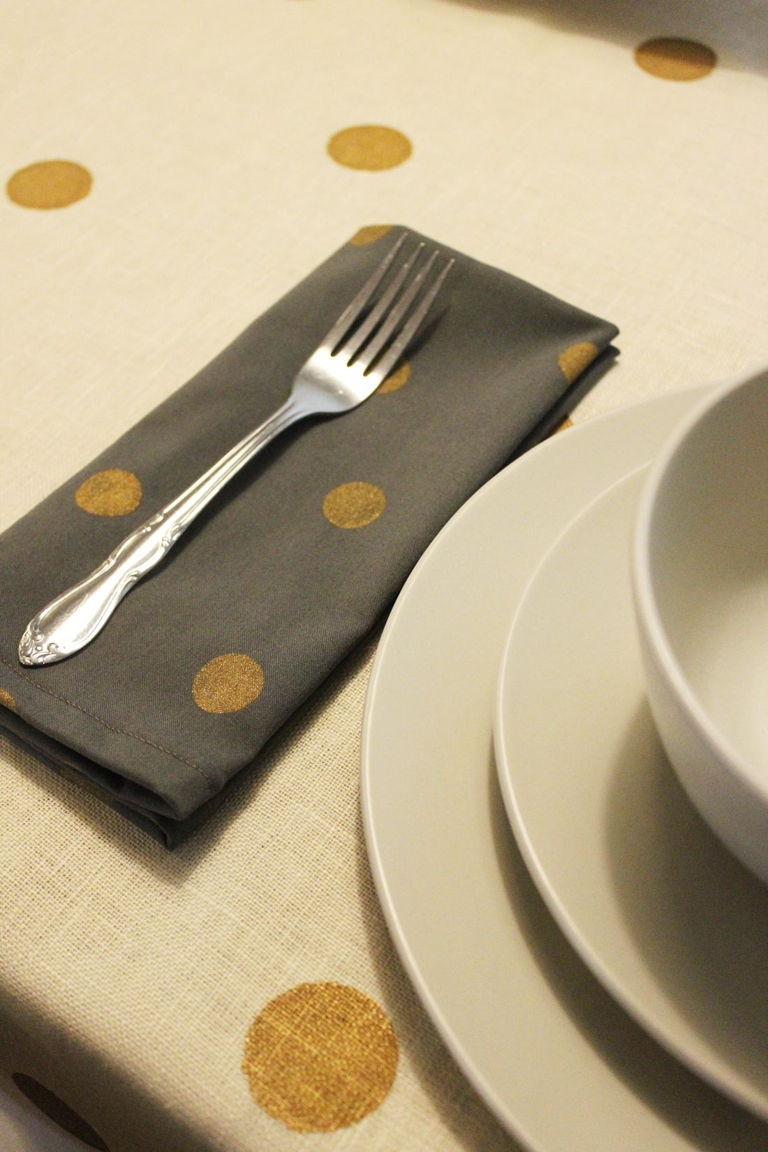 DIY Polka Dot Napkins and an Easy Way to Fold Them