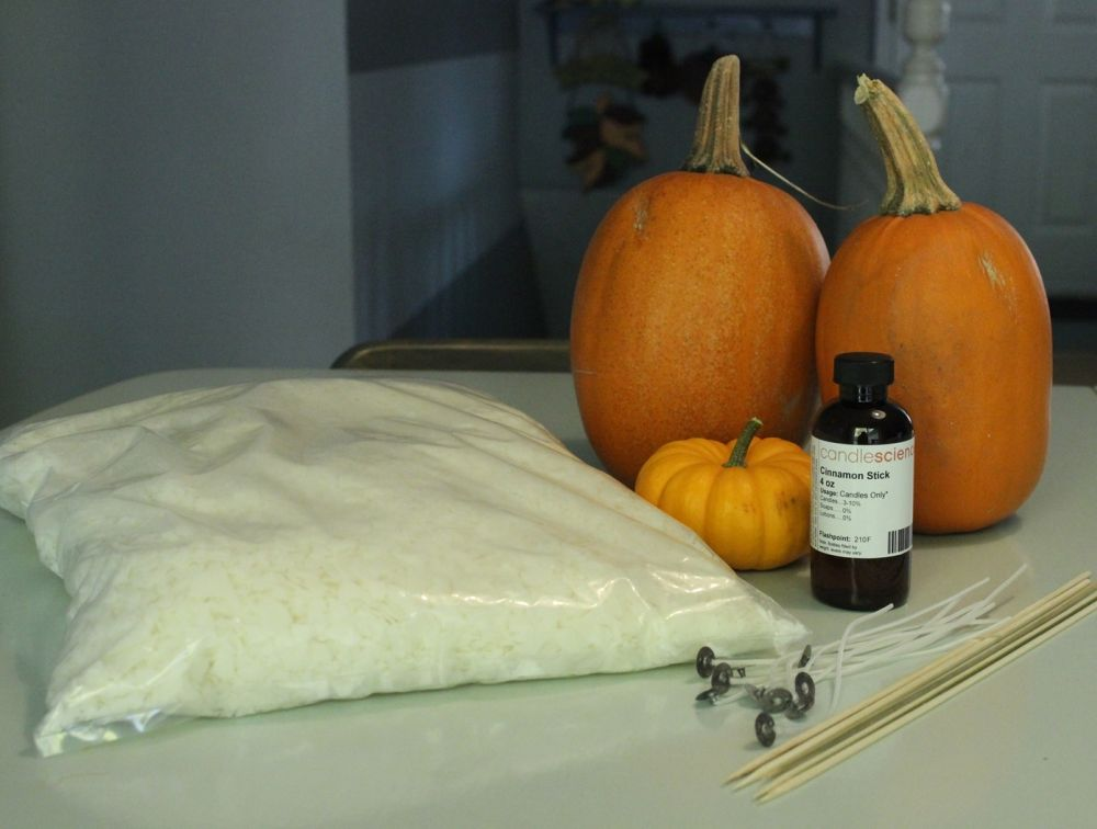 DIY Pumpkin Candles Materials