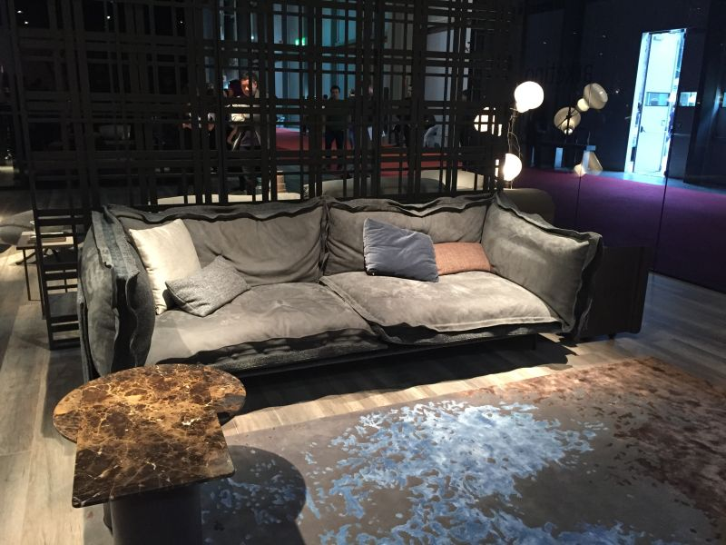 Dark grey sofa design