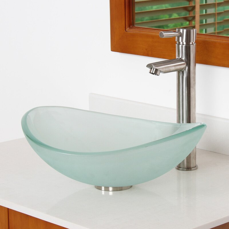 Elite Mini Frosted Tempered Glass Wash Basin
