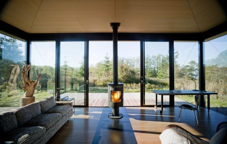 False bay writer cabin interior