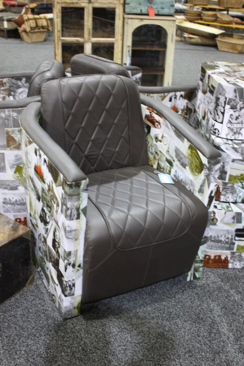 Faux Leather Armchair Design