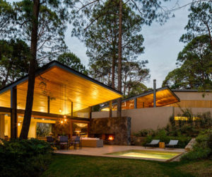 Five Gorgeous Forest Houses Linked In A Horizontal Condominium