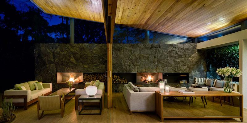 Five Houses condominium sliding glass doors