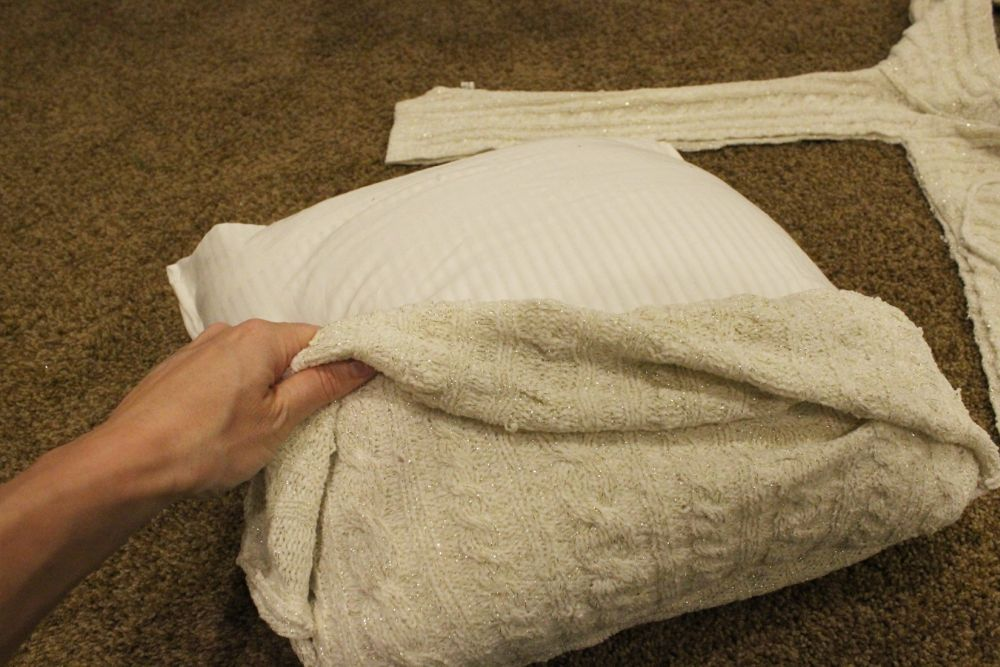Flipping your sweater right-side out