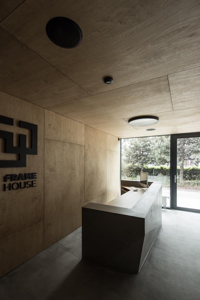 Framehouse office reception desk