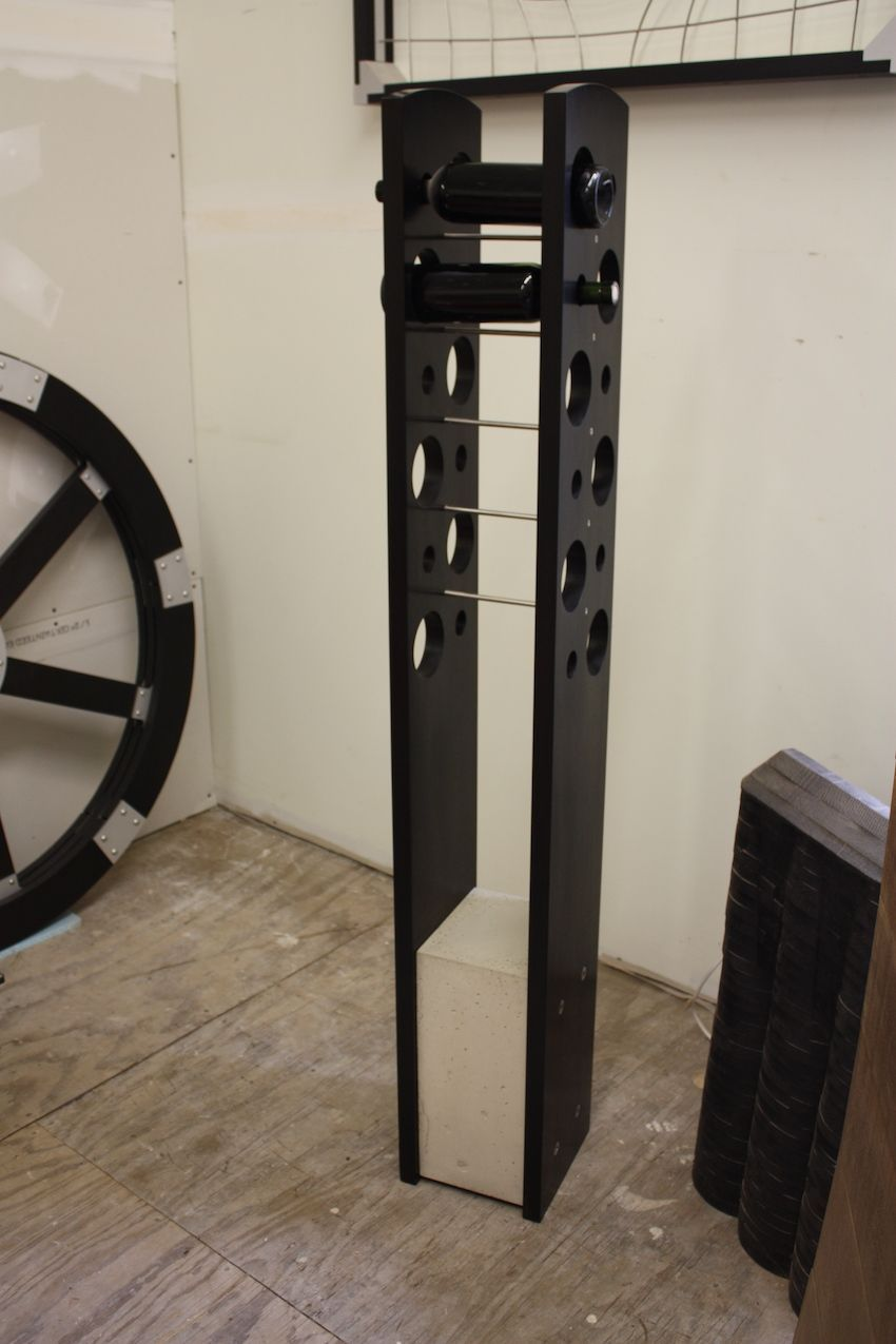 Freestanding tall wine rack