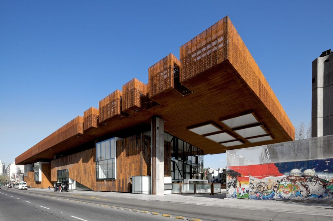 Gabriela Mistral Cultural Center Corten from Cristian Fernandez Arquitectos + Lateral Arquitectura & Diseño