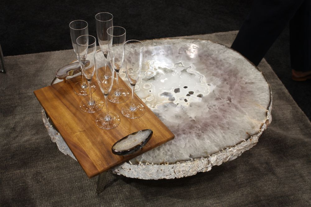 Gemstone and wood a perfect mix for this coffee table