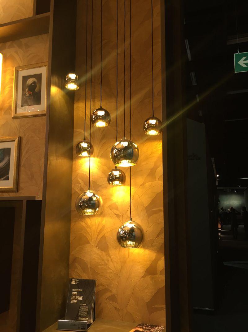 Gold hanging pendant lights