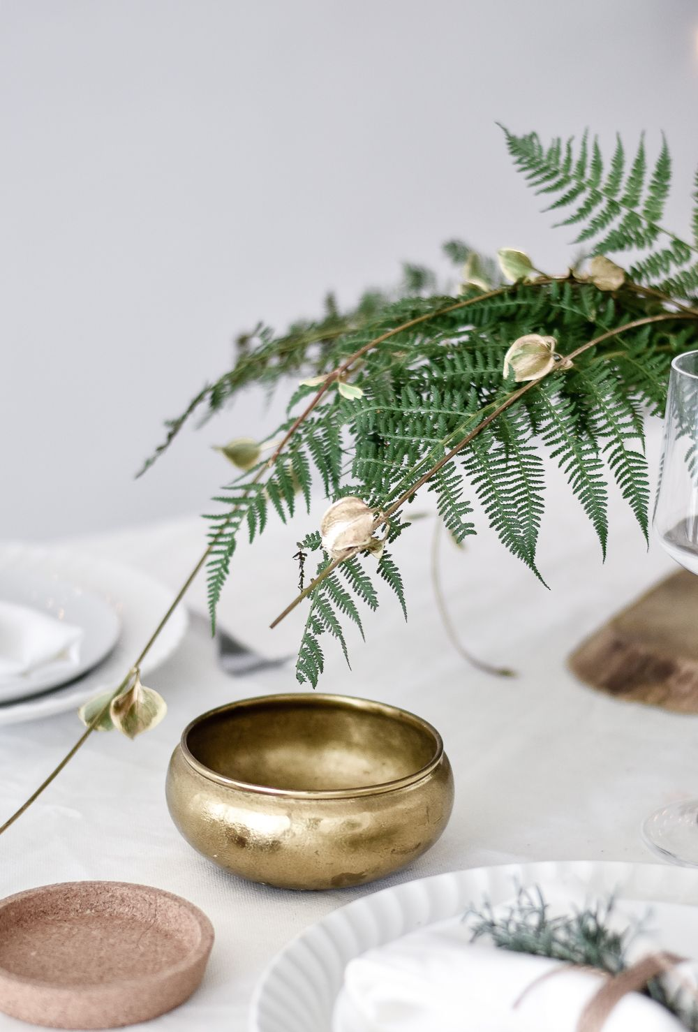 Green Festive Table Styling Decor