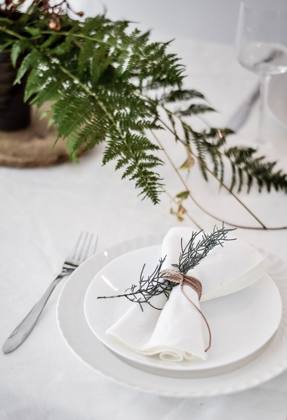 Green Festive Table Styling Napkin